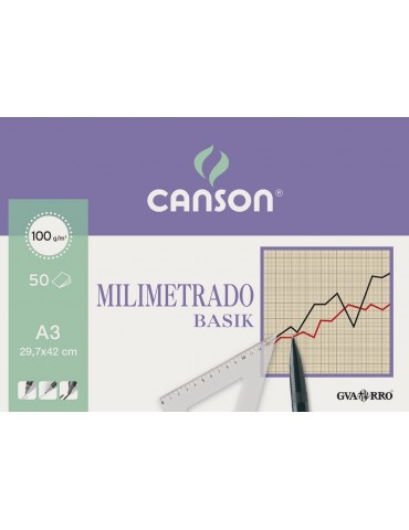 Papel milimetrado Canson 50...